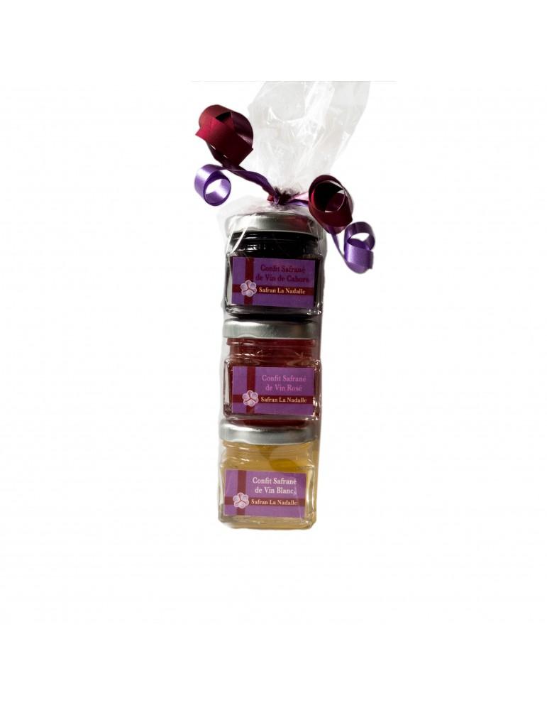 Confits safranés de Vin, 3 pots 40 gr.