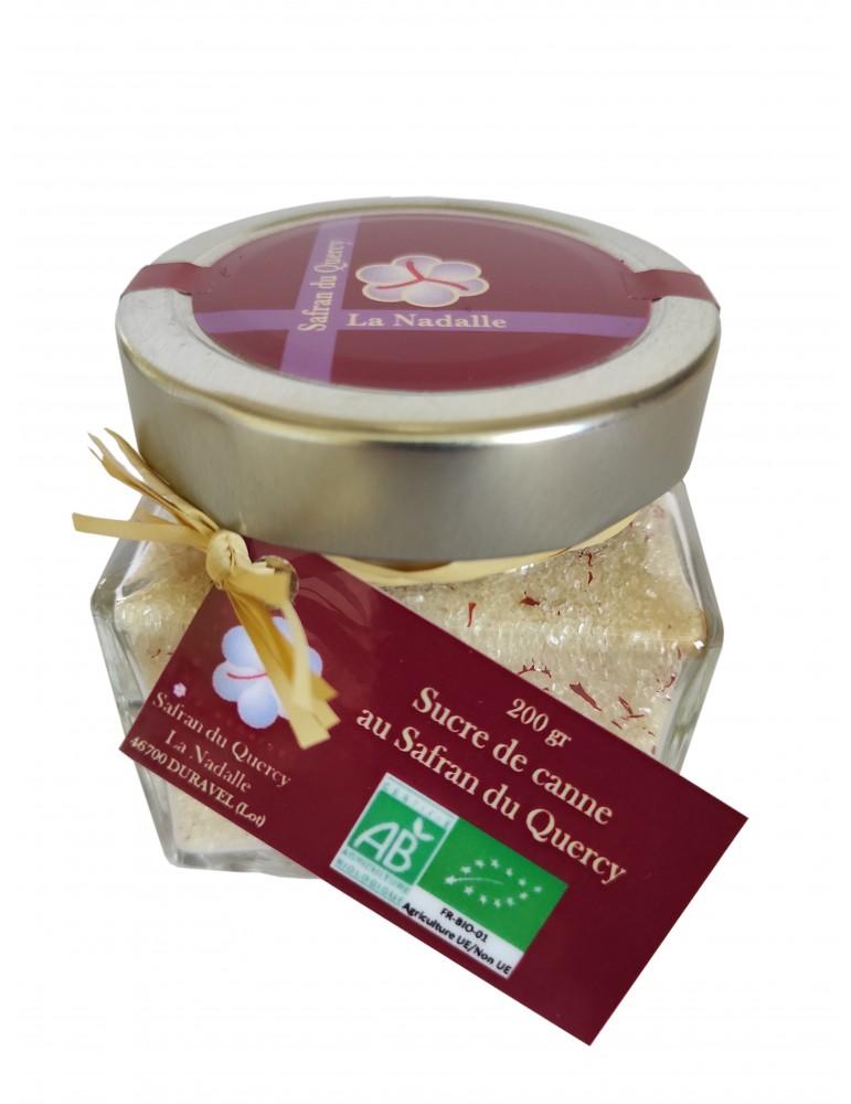 Sucre de canne au Safran du Quercy bio, 200 gr