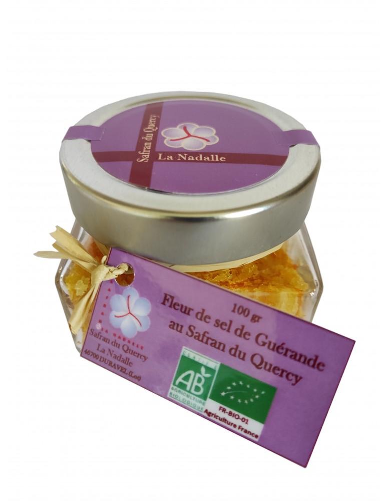 Fleur de sel de Guérande au Safran du Quercy bio, 100 gr