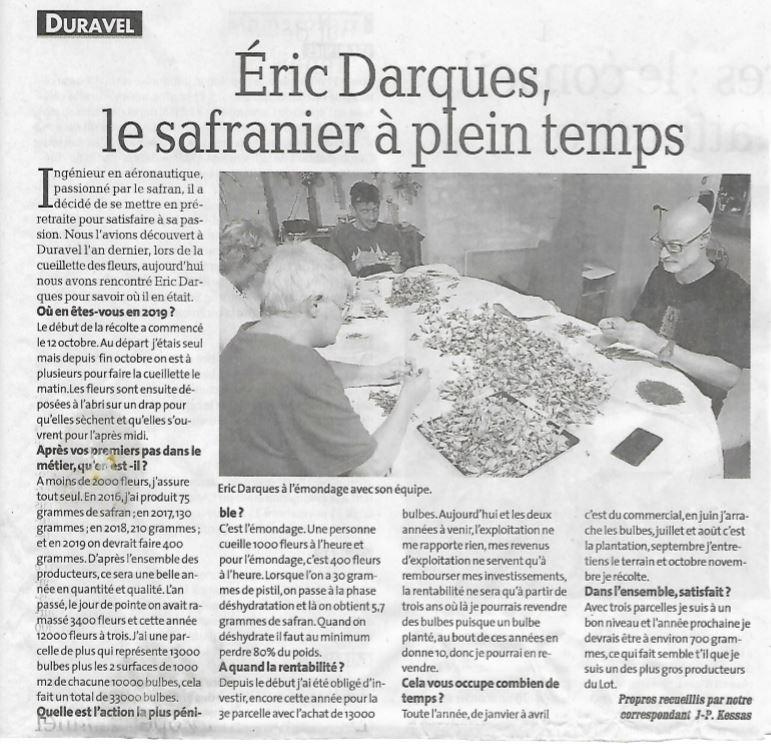 Article La Dépêche du Midi 2019
