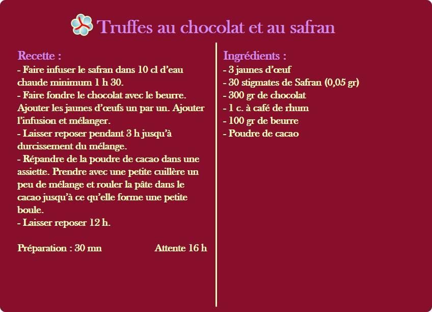 truffes au chocolat safran